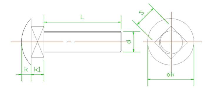 马车螺丝-结构图纸